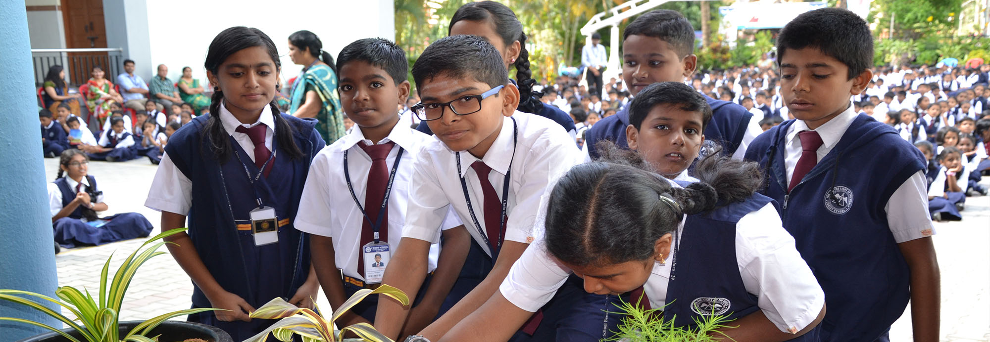 Environment day reminds each mankind about the beauty of nature and the importance to bring the nature and mankind to make a mutual respect with each other with the pledge of `No Destruction` and `Save the Earth`. Christ School is always a step ahead to create awareness about the environmental threats that we are encountering every day.