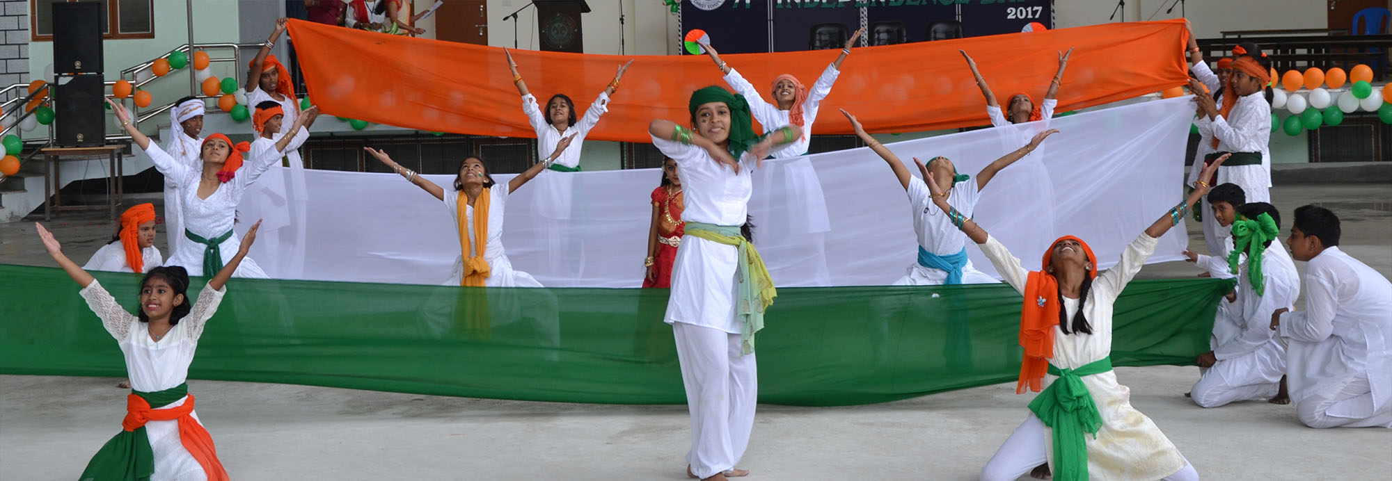 Christ School celebrated the 71 Independence Day with great zeal and spirit befitting the occasion. It was heartening to see children apply themselves with as much zeal and zest to the celebration.