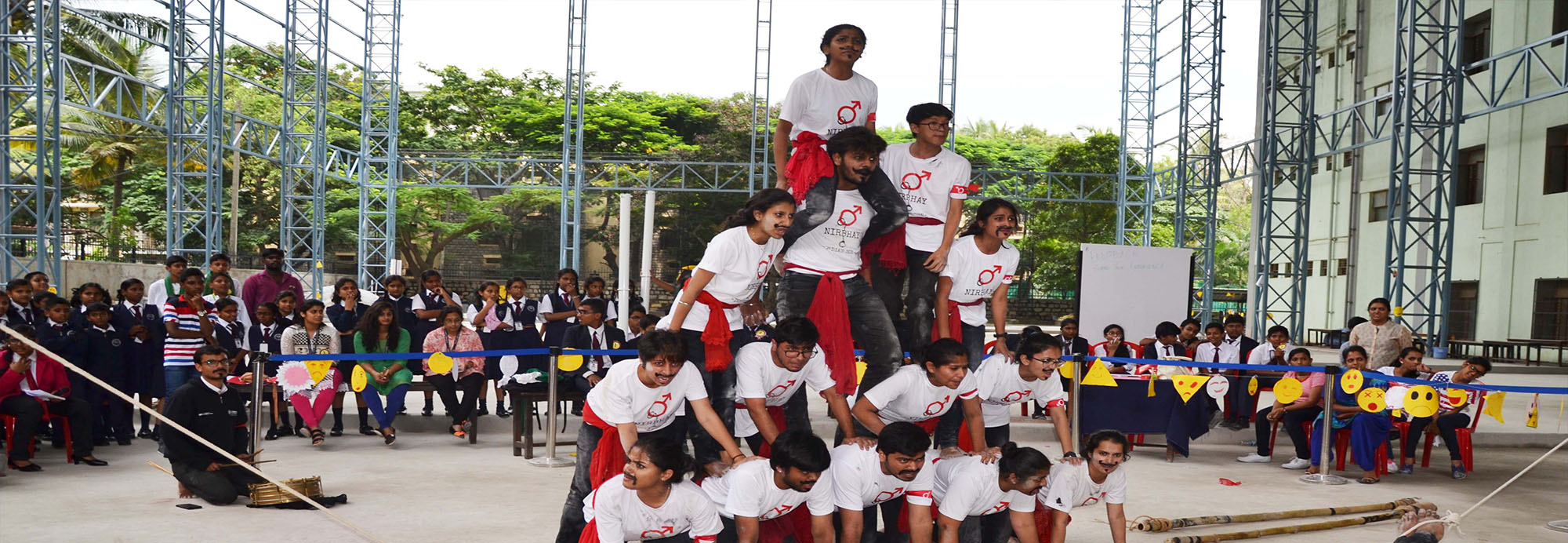 "Christ school organized ""Miraculous Medal"", an interschool theatre fest on 8 and 9 of September. The aim of this fest was to provide a platform for theatrical expression within the educational context."